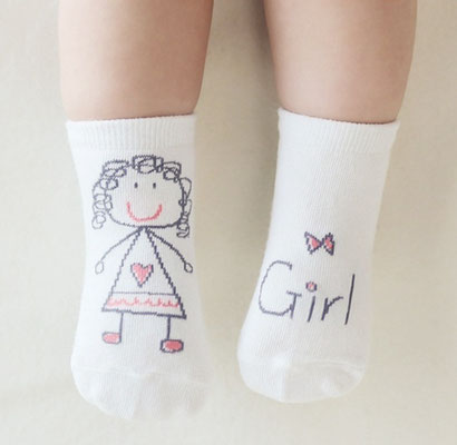 Kinder-Socken Girl