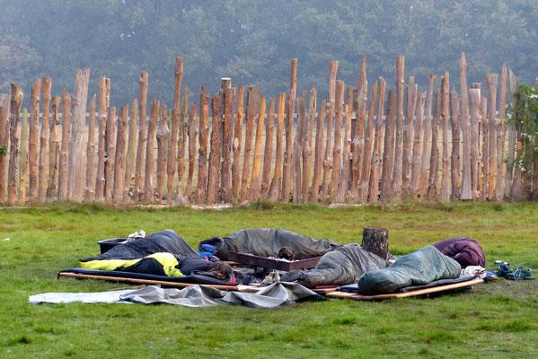 Die Pfadistufe verzichtet auch mal auf Zelte...