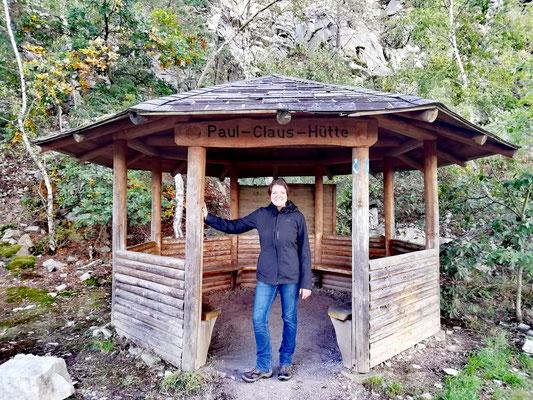 au milieu de l'itinéraire, la hutte Paul Claus