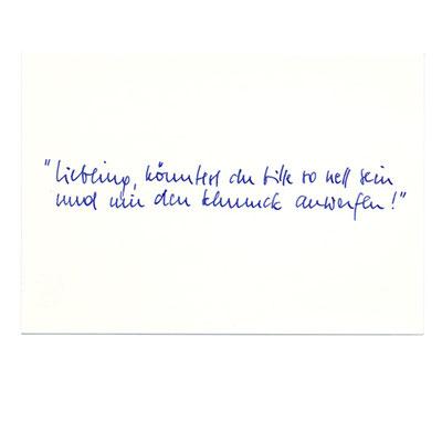 Postkarte für den Katalog der Goldschmiedeklasse an der Akademie der Bildenden Künste in Nürnberg  / 1998