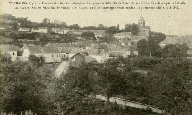 Le village de Craonne avant 14-18