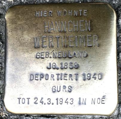 Wertheimer, Hannchen