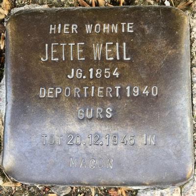 Weil, Jette
