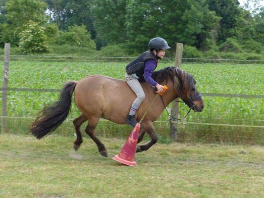 ... faire du pony games.  (Sucette Babière)