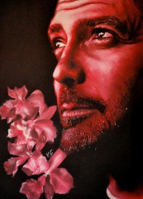 Georges Clooney, pastel (2002)
