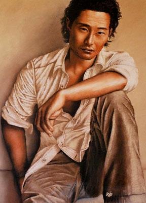 Daniel Dae Kim, pastel (2007)