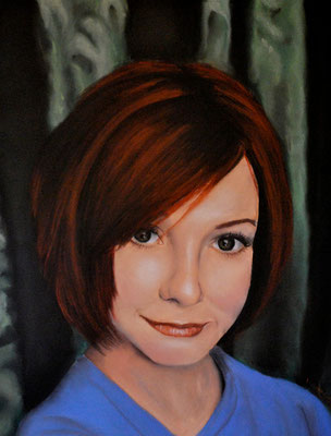 Alyson Hannigan, pastel (2000)