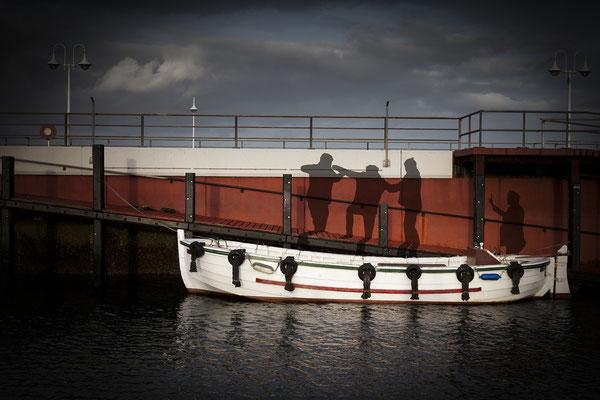 Ausbooten mit einem Börteboot