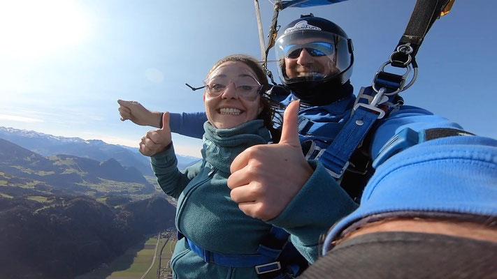 Fallschirmspringen Geschenkidee Zell am See