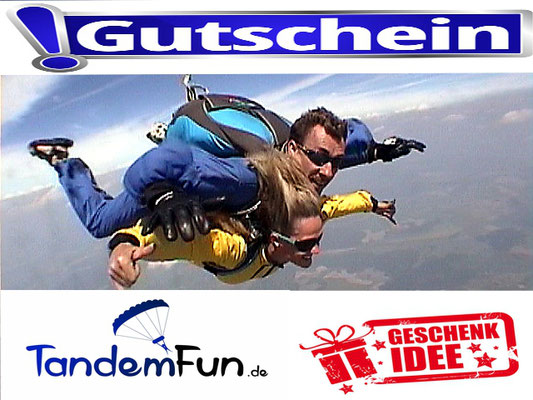 Fallschirmspringen Geschenkidee Geschenkgutschein