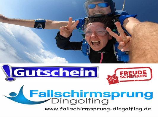 Fallschirmspringen Geschenkidee Gutschein