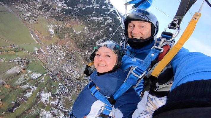 Fallschirmspringen Geschenkidee Pinzgau