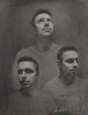Jos (charcoal and white chalk, 60x47cm)