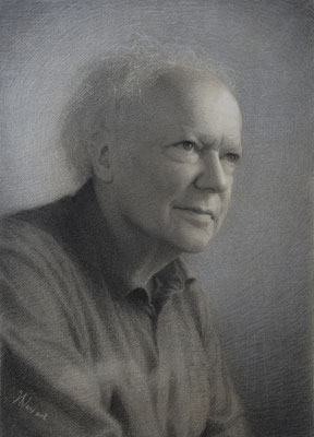 Coen (charcoal and white chalk on toned paper, 58cm x 40 cm)