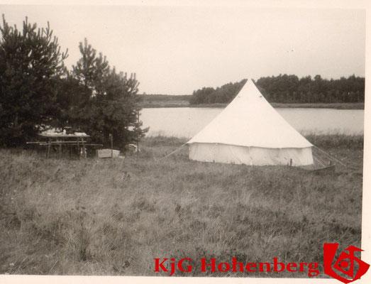 1963 - Zelten in Wilburgstetten