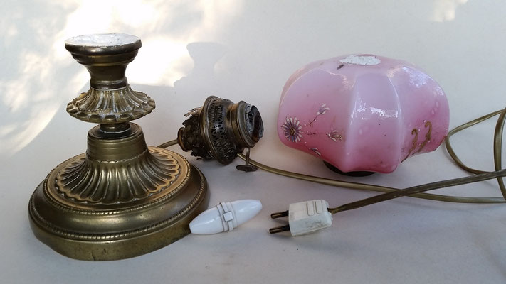 Lampe rose - avant