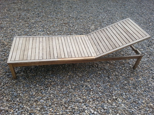 Chaise longue - après réparation et mise en beauté