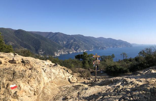 the Cinque Terre coast, seen from Punta Mesco