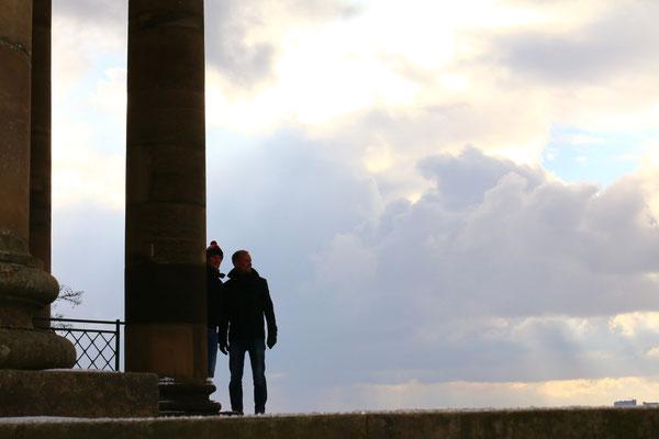 В январе бывший пригород Унтертюркхайм затягивает облаками, Штутгарт, 2016