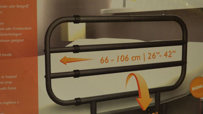 Barrières de lit pour la sécurité du patient