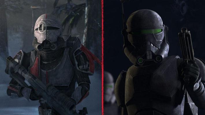 Auch Crosshair trägt eine neue Rüstung, die ihn eher wie einen imperialen Soldaten aussehen lässt. Zudem hat er seine Waffe gegen die imperiale Standardbewaffnung ausgetauscht.