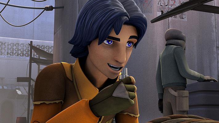 Im ersten Entwurf wird Ezra zunächst von dem Imperium gejagt und trifft erst am nächsten Tag auf Kanan
