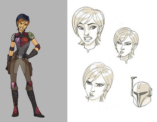 Sabine Wren Charakter Illustration