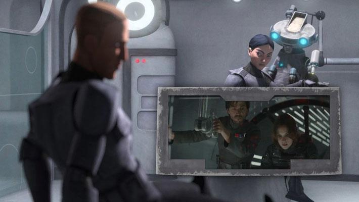 """Das Projekt """"Kriegsmantel"""" wurde erstmals in Rogue One erwähnt, aös Jyn Erso nach den Plänen des Todessterns sucht. In dieser Episode wird gezeigt, wie Wehrpflichtige für das Imperium ausgebildet werden."""
