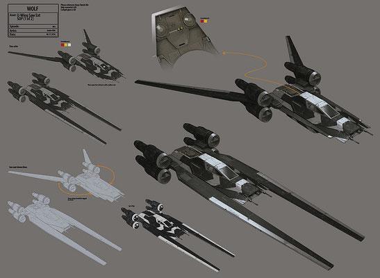 Saws U-Wing / Konzeptzeichnung von Andre Kirk