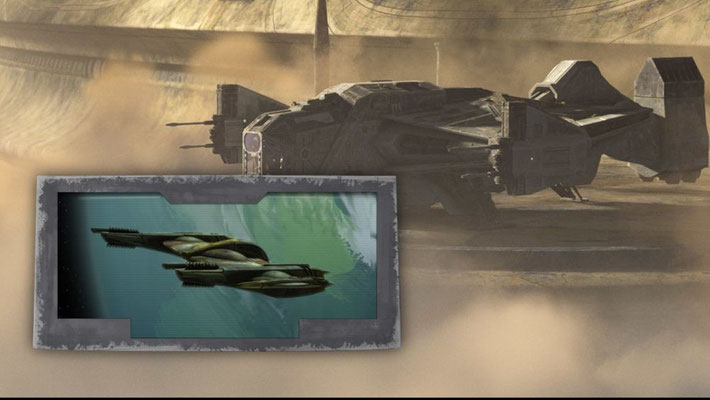 In dieser Episode fliegt Cad Bane ein neues Schiff, die Justifier, und nicht mehr die aus The Clone Wars bekannte Xanadu Blood. Die Justifier wurde bereits für The Clone Wars entworfen und sollte in einer Episode mit Bane und Boba Fett eingesetzt werden.