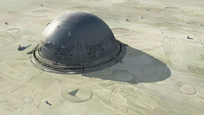 Das Design von Sundari, der mandalorianischen Hauptstadt, basiert auf einen Vorschlag von George Lucas.