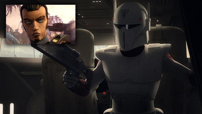 Andrew Kishini gab dem imperialen Mandalorianer Hark seine Stimme. Er tat dies auch bei dem jugen Saw Gerrera in The Clone Wars.
