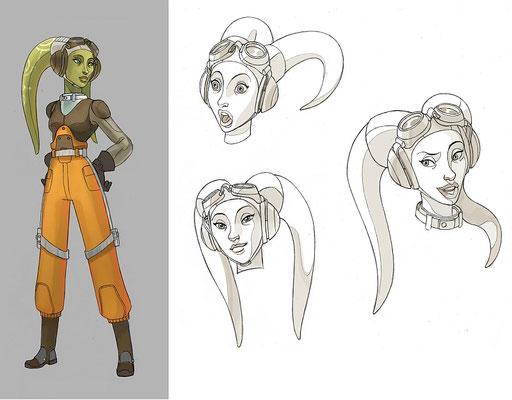 Hera Syndulla Charakter Illustration