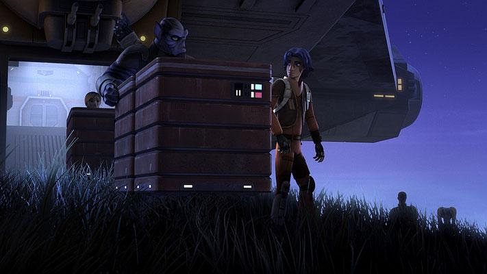 Die Kisten, die die Rebellen stehlen, sind mit Farbcodes versehen. Rot steht für Lebensmittel und Grau für Waffen.