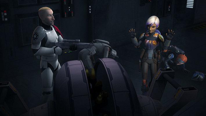 Die Idee, dass Sabine Waffen für das Imperium entwarf, geht zurück auf ihr ursprüngliches Charakterkonzept.