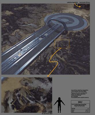 Lothal Imperiale Blockade Konzeptzeichnung von Andre Kirk