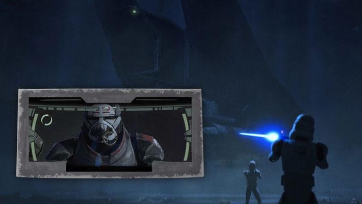 """In einer der letzten Szenen ist das Geschehen aus dem Helm von Hunter in der """"First Person""""-Perspektive zu sehen. Eine sehr seltene Einstellung in der Star Wars-Geschichte"""