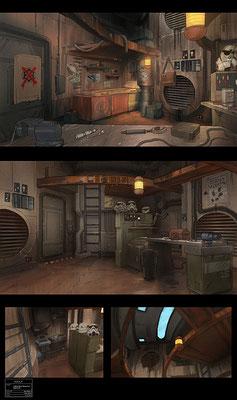 Früher Entwurf von Ezras Unterkunft