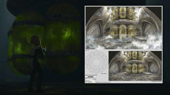 Omega sieht sich auf Bora Vio ihrem eigenen Ich gegenüber. Dies ist ein Beleg dafür, dass die Kaminoaner viele Experimente durchgeführt haben, bevor die Klonarmee entstanden ist.