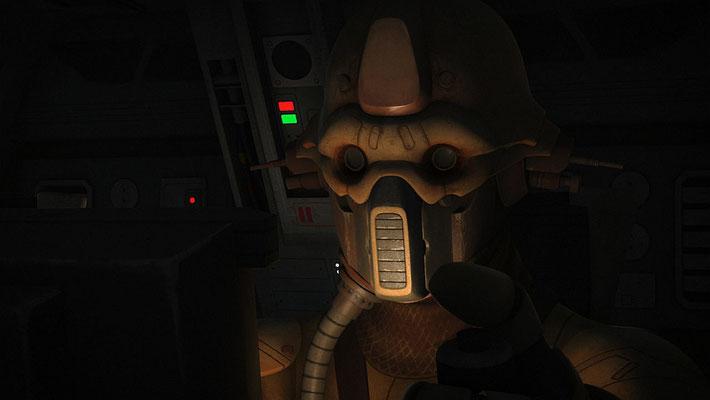 """In einer frühen Version des Skripts war Saws Pilot noch ein neuer Charakter mit dem Namen Lorc. Um eine bessere Verbindung zu """"Rogue One"""" zu schaffen, hat man sich für den aus dem Film bekannten Edrio entschieden."""