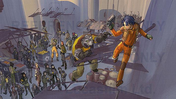 Während der Fertigung des Films wurde die Speederbike-Sequenz eingefügt und ist somit die erste Star Wars-Action-Sequenz in der Serie. Zunächst war eine Verfolgung zu Fuß geplant.