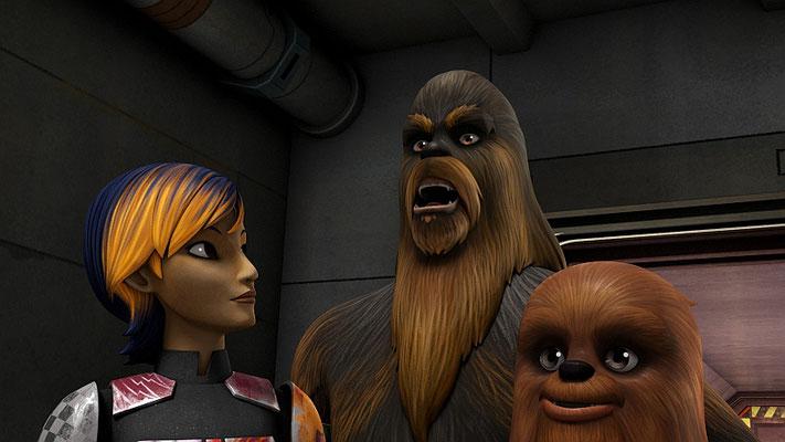 In dem Skript sind die Übersetzungen der Wookiee-Sprache von Sabine deutlich länger.
