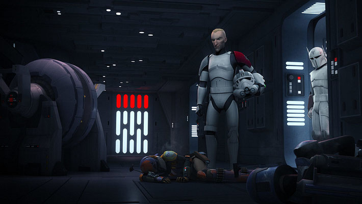 """Eine Tradition bei Star Wars Rebels ist, dass Schauspieler aus der Serie """"Rome"""" einem mandalorianischen Anführer ihre Stimme geben. Dieses Mal sind es Tobias Menzies (Tyber Saxon), Kevin McKidd (Fenn Rau) und Ray Stevenson (Gar Saxon)"""