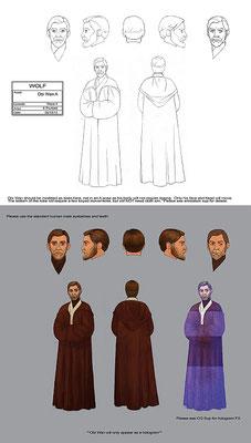 Obi-Wan Kenobi Charakter Illustration basierend auf Episode III