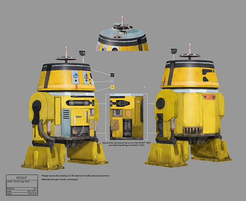 Ch-3R / Konzeptzeichnung von Jason Pichon