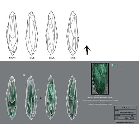 Kyber-Kristall / Konzeptzeichnung von Goran Josic