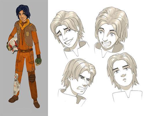 Ezra Bridges Charakter Illustration