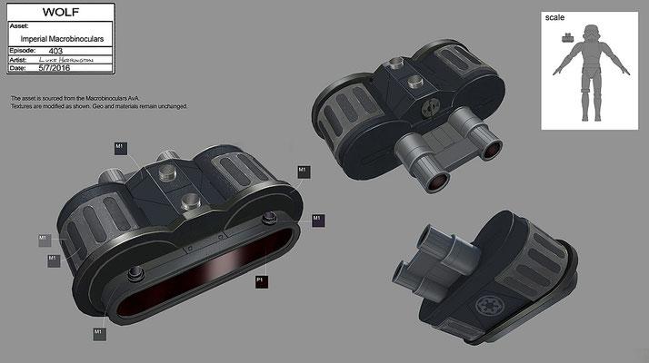 imperiale Macrobinoculars / Konzeptzeichnung von Luke Harrington
