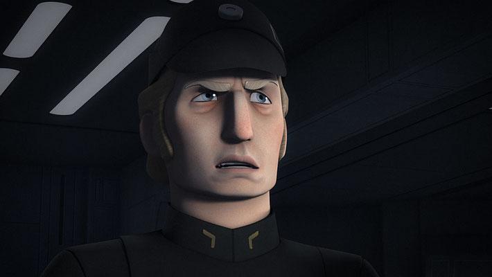 Die steile Karriere von Commander Brom Titus findet in dieser Episode ein jähes Ende, nachdem er in Staffel 2 noch als Admiral gestartet war.