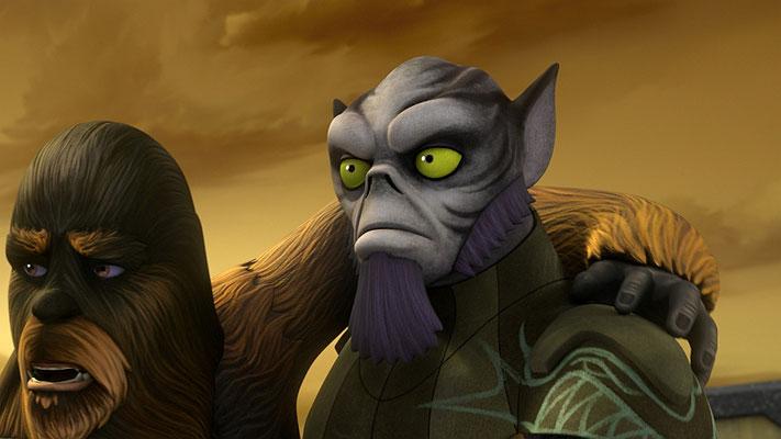 """Den Ausruf """"Karabast!"""" benutzt Zeb immer dann, wenn es eng wird. Dies wird sich durch die gesamte Serie ziehen."""
